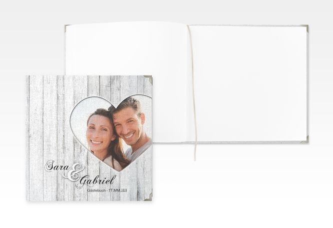 """Gästebuch Selection Hochzeit """"Herz"""" Hardcover weiss"""