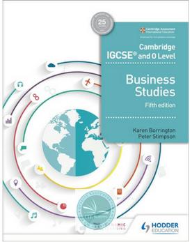 Cambridge Igcse And O Level Business Studies 5th Edition Release Date 03 30 2018 Cambridge Igcse Business Studies O Levels