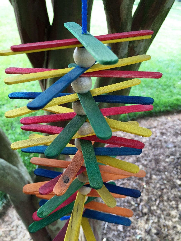 Medium or Small Parrot Toy Wood Bird Toy Shredder Bird