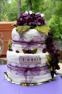 two tier wedding bridal shower towel cake