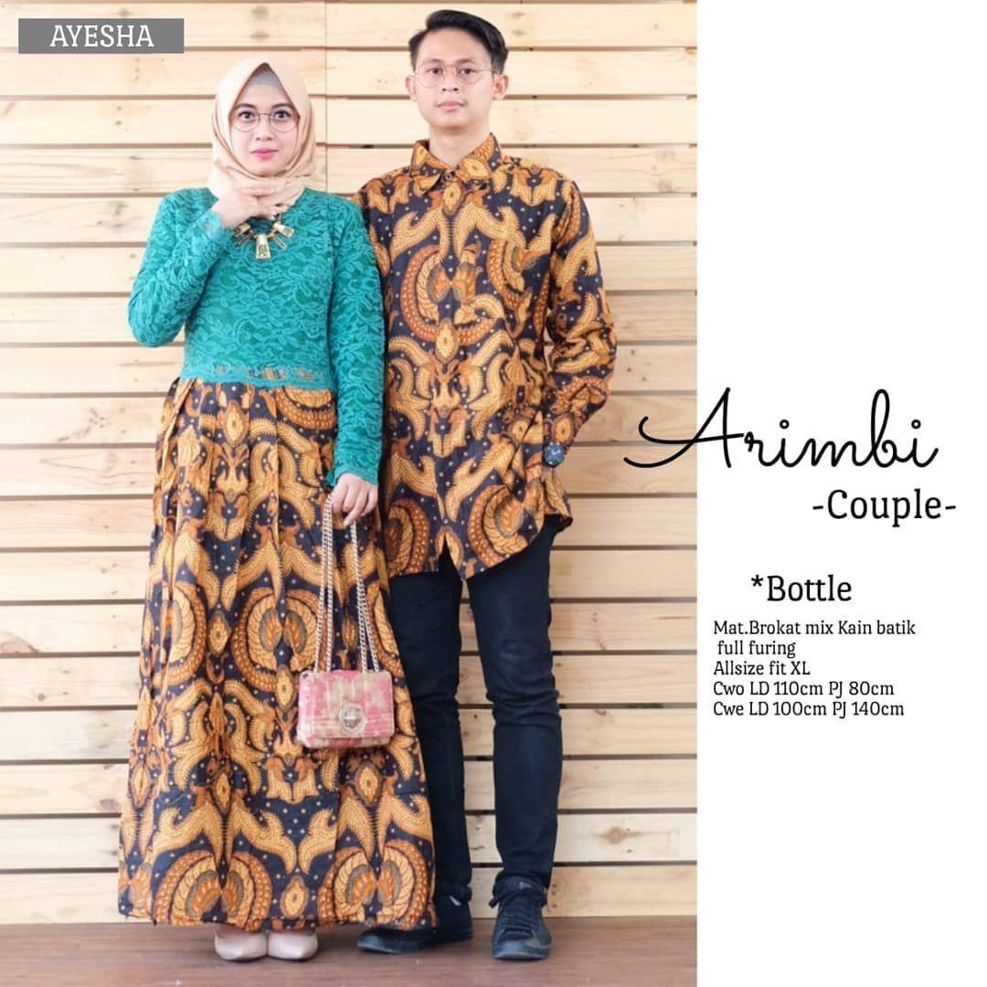 Model Gamis Batik Atasan Brokat di 9  Model pakaian, Model