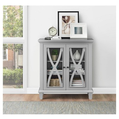 Ellington 2 Door Accent Storage Cabinet - Gray - Ameriwood Home