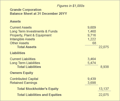 The Balance Sheet Shows Financial Position. Examples Explained  Examples Of Financial Reports