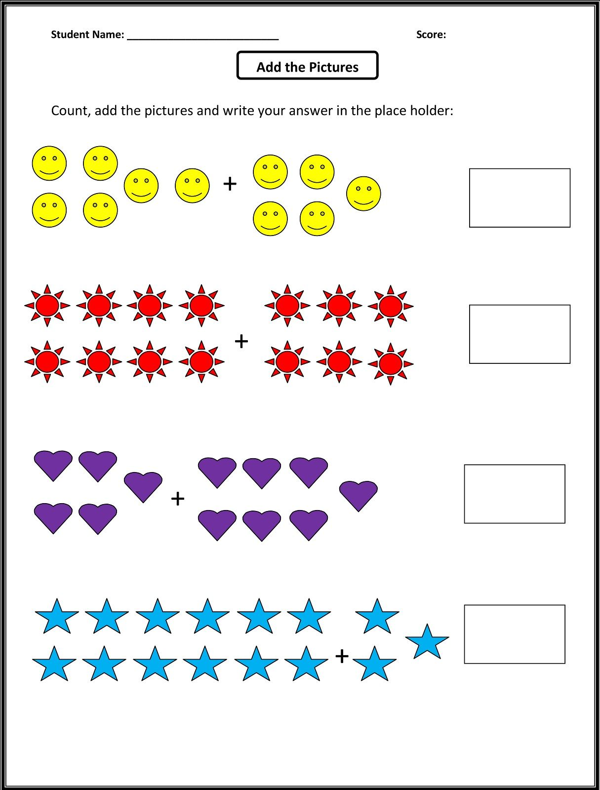 Worksheets For 1st Grade Math First Grade Math Worksheets Free Math Worksheets 1st Grade Math