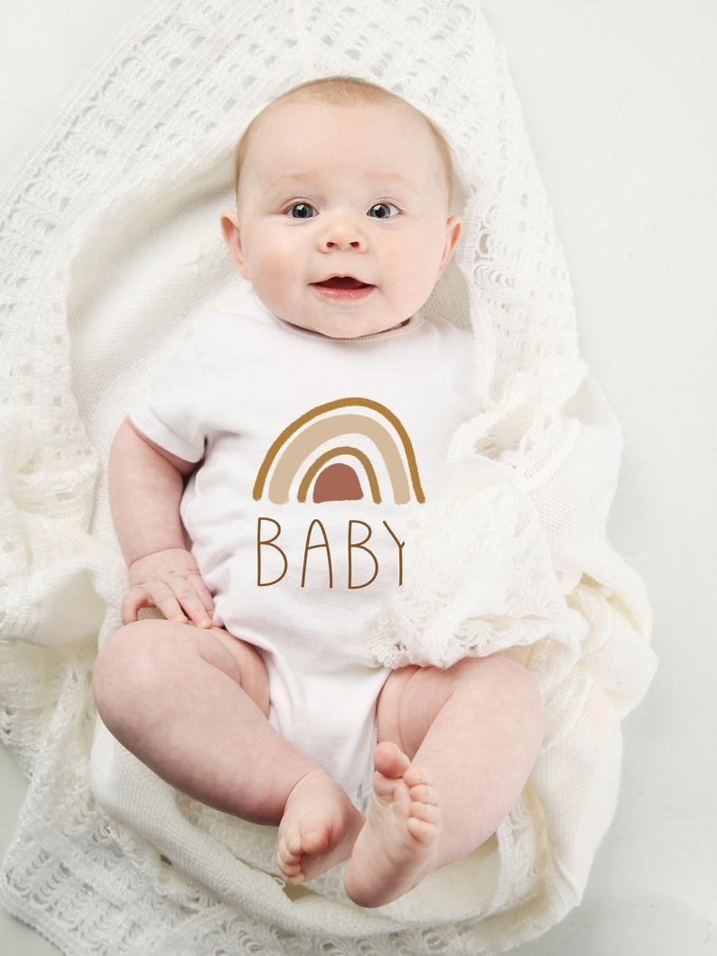 Rainbow Baby Shirt: Boho Rainbow Baby Onesie One Piece / Bodysuit . Hipster
