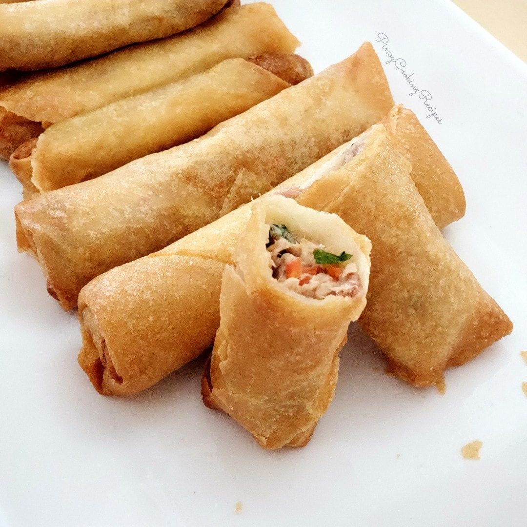 Tuna Lumpia Spring Rolls Pinoycookingrecipes Spring Rolls Food Tuna Spring Rolls Recipe