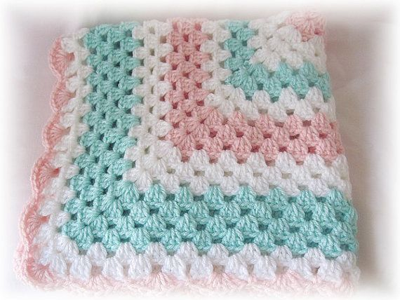 Crocheted Granny Square Baby Blanket / Carrier Cover by AvesAttic ...