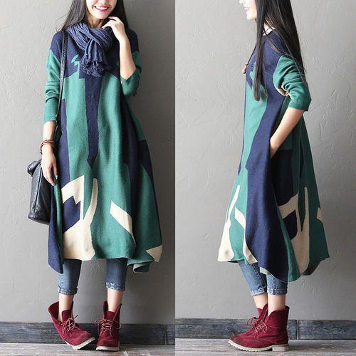 #women winter woolen dress