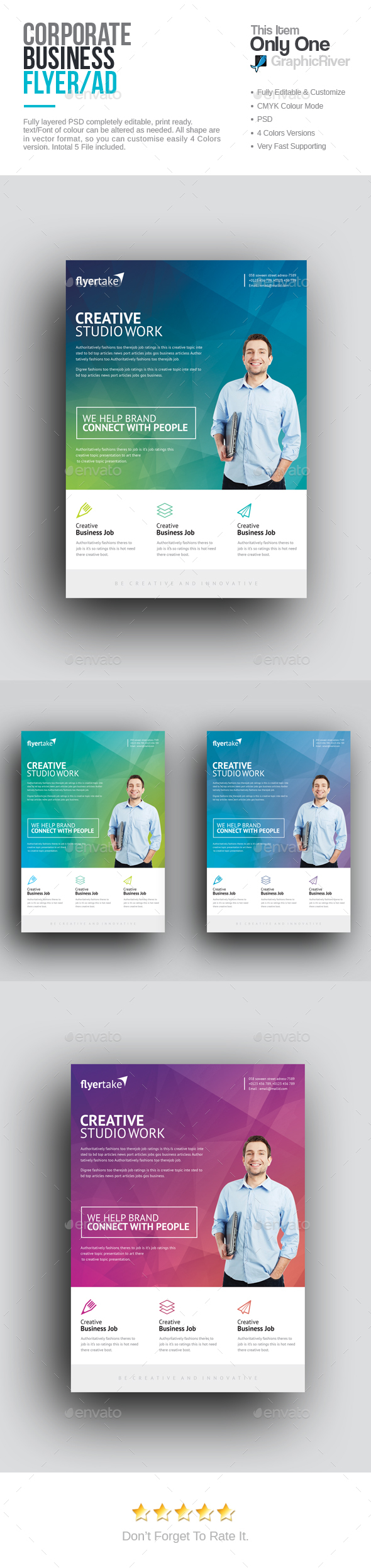 Corporate Flyer  Flyer Template Photoshop And Adobe Photoshop