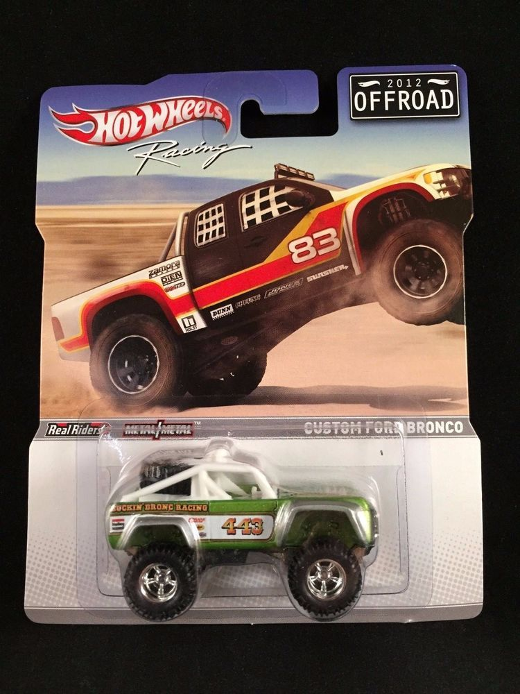 2012 Hot Wheels Racing Offroad Custom Ford Bronco Lime Green Real
