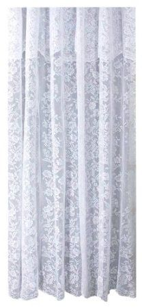 Amazon Ricardo Romance Lace White Fabric Shower Curtain With An Attached Valance 72 X Long Home Kitchen