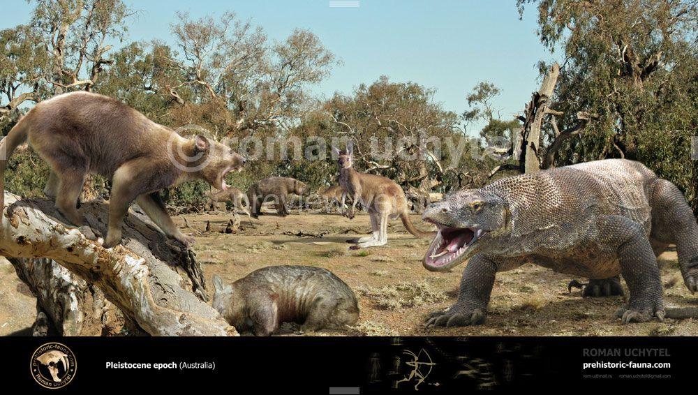 Pleistocene Australia By Rom U On Deviantart Animals Images Animals Prehistoric Animals