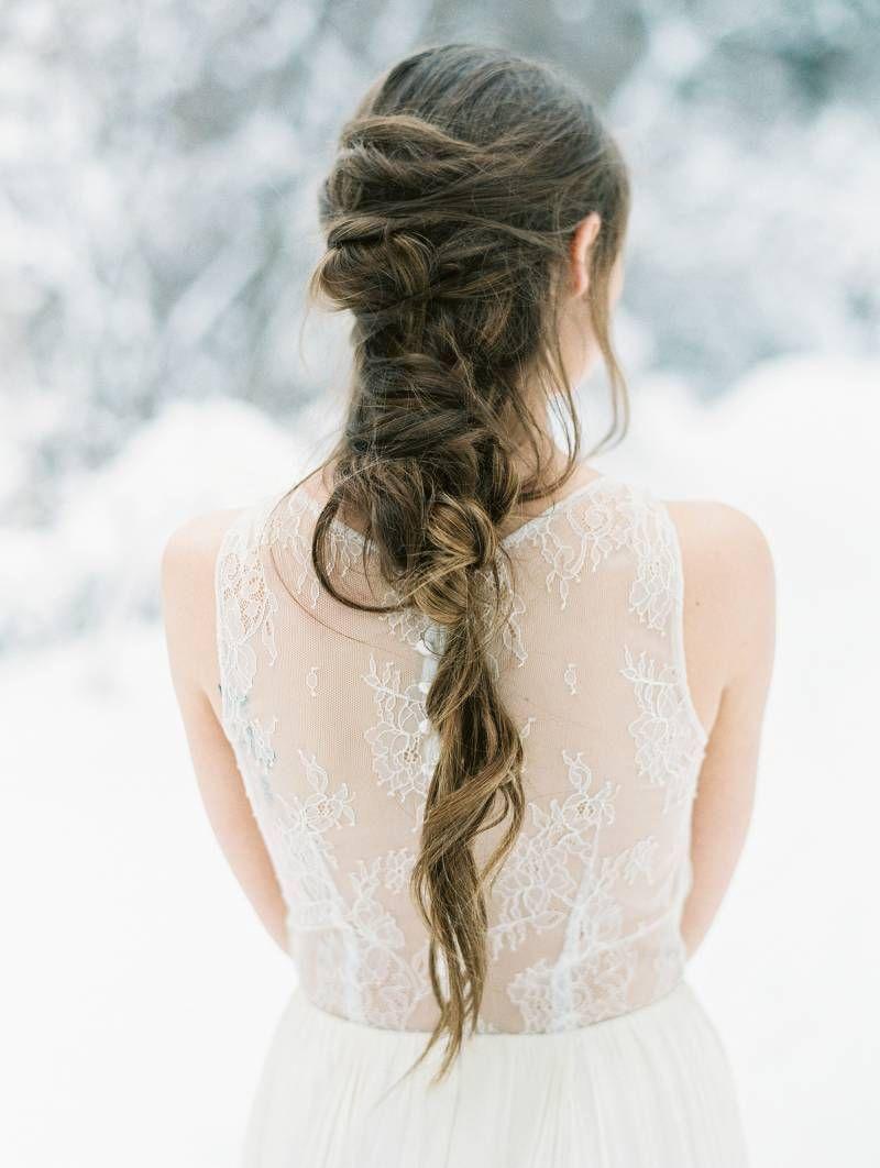 A beautiful elopement inspiration shoot in a white winter wonderland ...