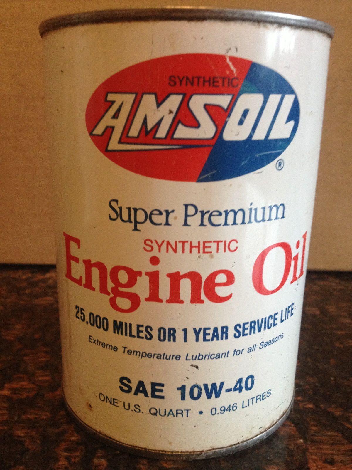 Amsoil Synthetic Motor Oil Vintage Oil Cans Vintage Gas Pumps Oils