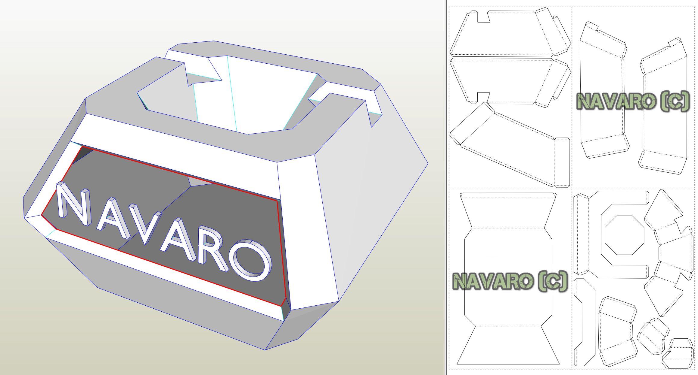 Cinema Box – Papercraft – Phone Holder – Watch and Eat – Candy Box – Printable PDF – Low Poly – Pepakura – Origami – DIY – Paper Pattern