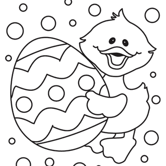 Easter chick free printable coloring page oriental for Free easter coloring page