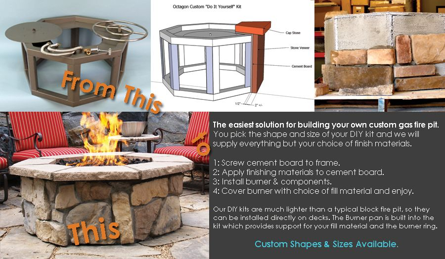 Diy kits for gas fire pits