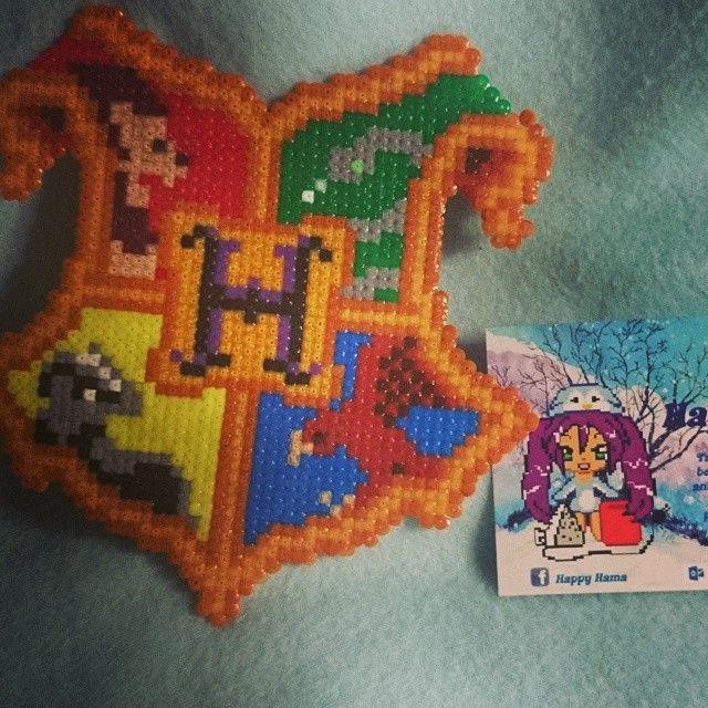 Harry Potter crest perler beads by happy.hama