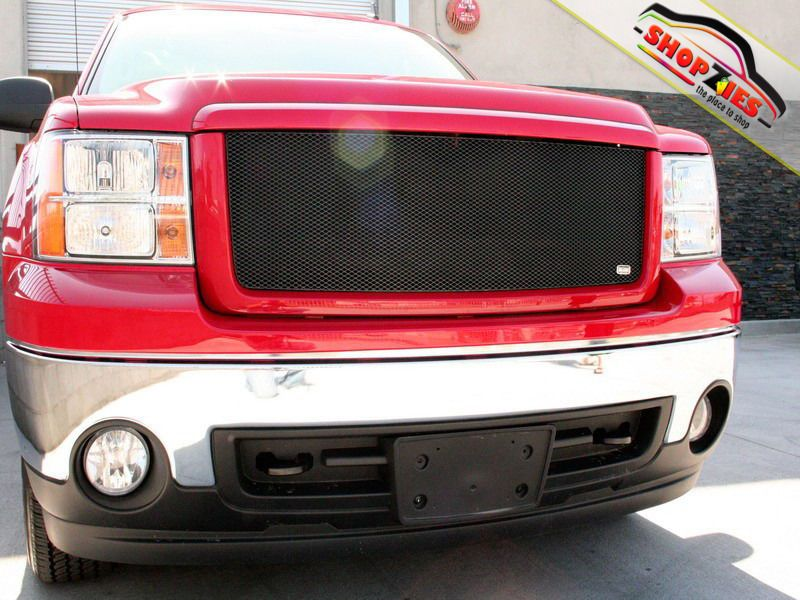 Gmc Sierra 1500 2007 3013 Upper Mesh Grille Grill Black 1pc Gmc