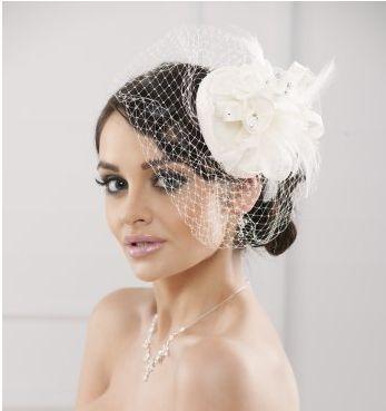 Pour une mariée très chic et rétro. Bibi avec voilette.   coiffes ... 3cf349f3683