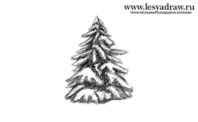 tannenbäume zeichnen