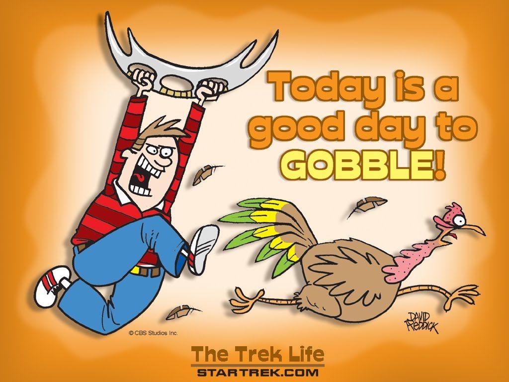 happy thanksgiving star trek turkey goblle thanksgiving