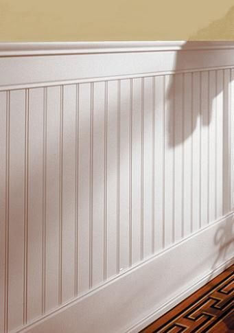 Classic Beadboard 4 foot Kit Wainscoting hallway, Dining