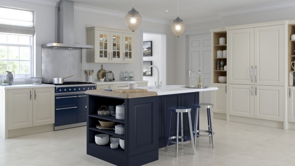 A range of painted kitchens from Multiwood This includes the