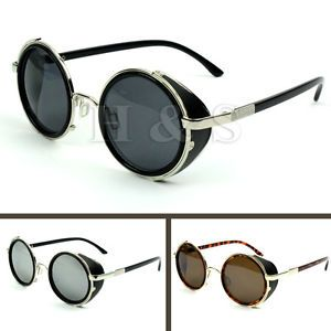 3df99916939b Steampunk-Sunglasses-50s-Round-Glasses-Cyber-Goggles-Vintage-Retro-Style -Blinder
