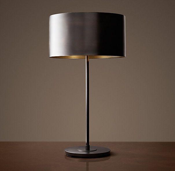 Lovely Antiqued Metal Drum Table Lamp   Bronze | Restoration Hardware