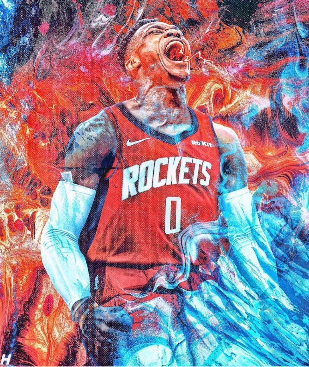 Russell Westbrook Wallpaper For Mobile Phone Tablet Desktop Computer And Other Devices Hd And 4k Wallpapers In 2020 Westbrook Wallpapers Nba Wallpapers Nba Artwork