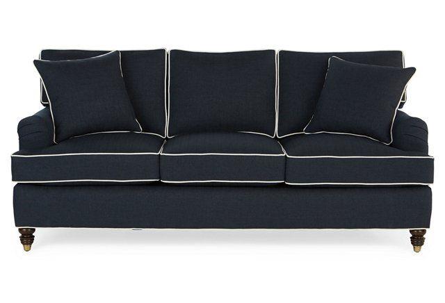 Kate 82 Sleeper Sofa Navy Crypton Sleeper Sofa Sofa