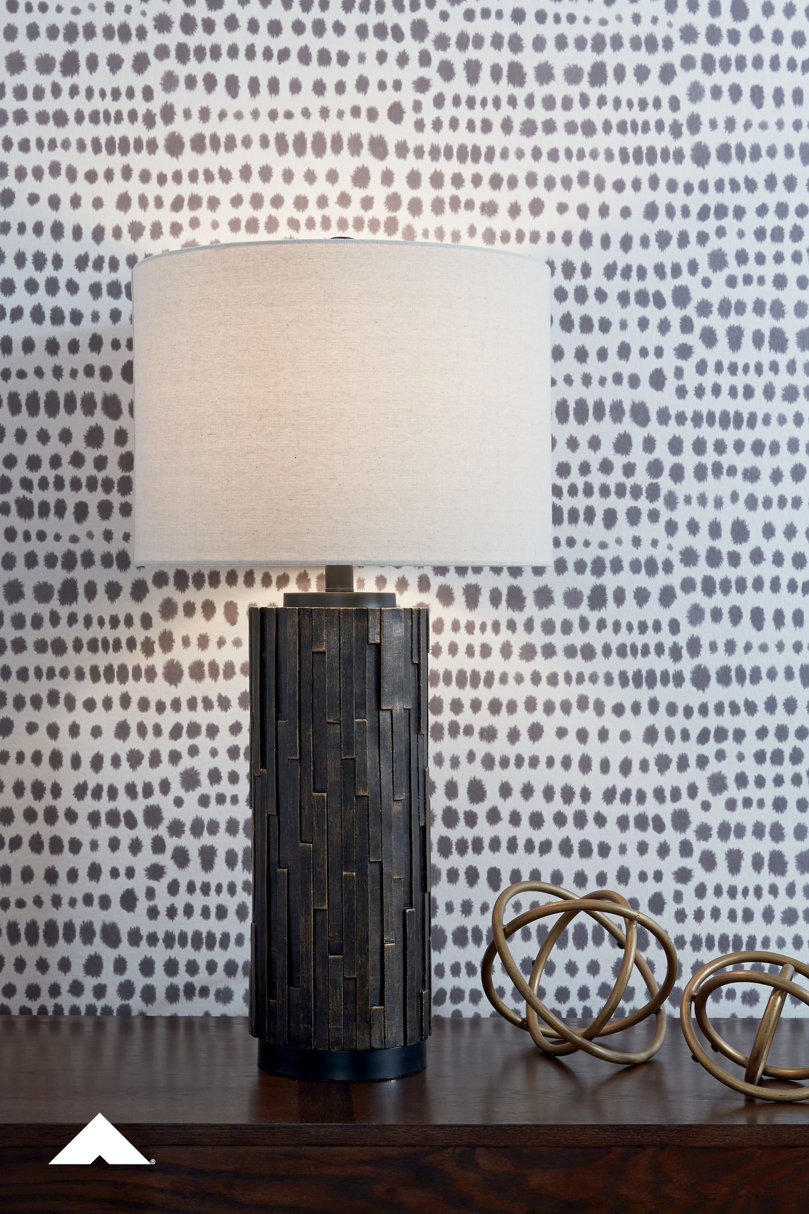 Makya Black Table Lamp By Ashley Furniture Industries A Natural Element Is Always A Welcome To In 2020 Ashley Furniture Industries Ashley Furniture Black Table Lamps