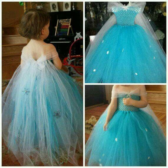 Disfraz Frozen Con Tul Para Niña Vestidos Frozen Niña