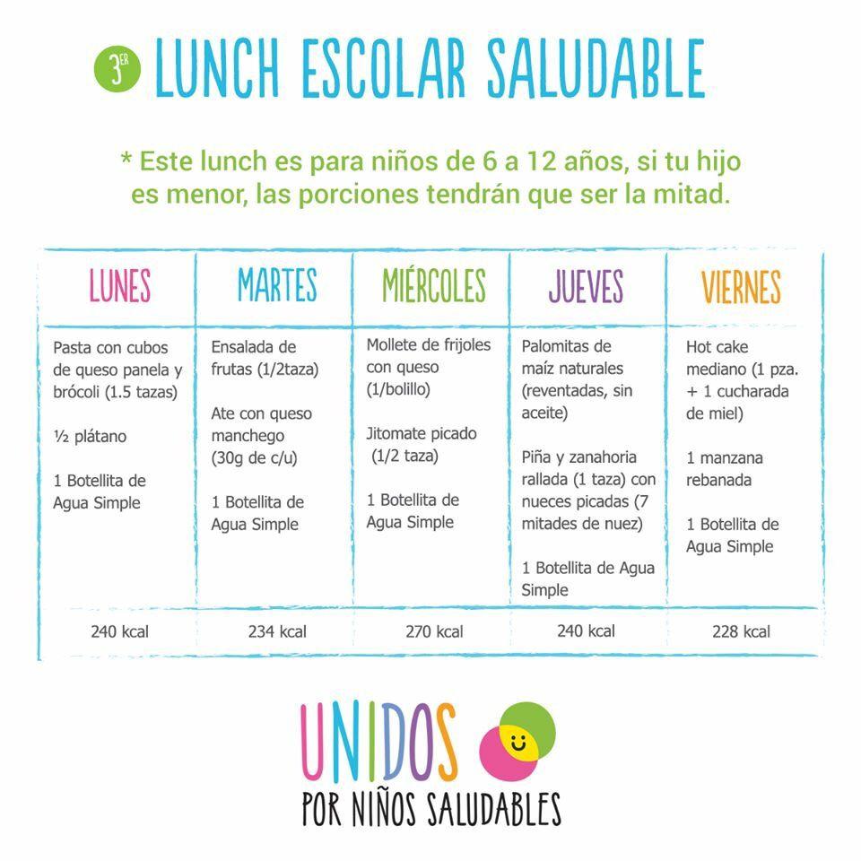 Lunch saludable escuela health pinterest lunch for Menus faciles y sanos