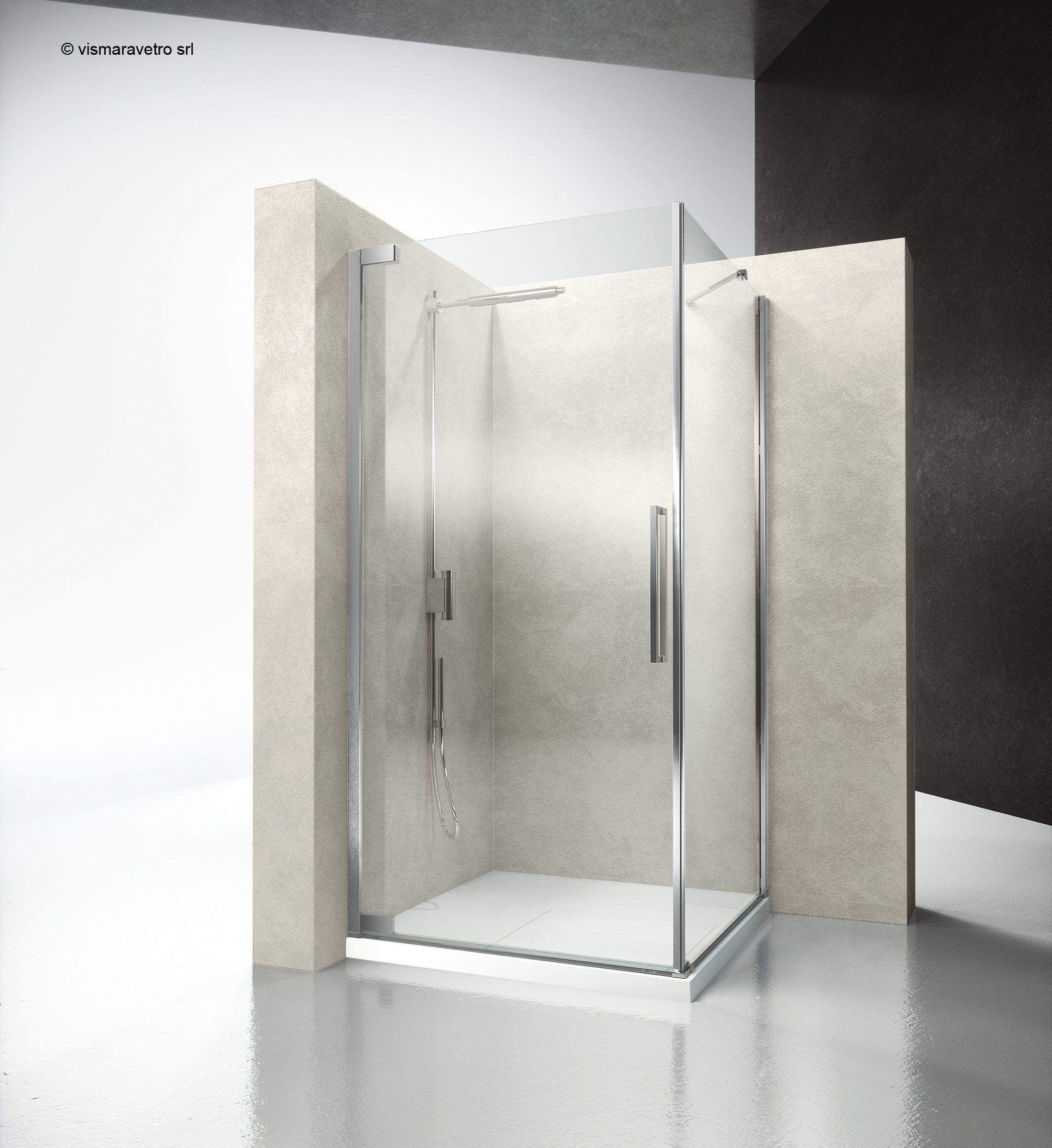 Fa Ff Flare Shower Enclosures Models Pivot Door Hinged Door Shower Enclosure Flare The New Hinged Door Shower Enclosure By Vismaravetro Bathroom Ideen