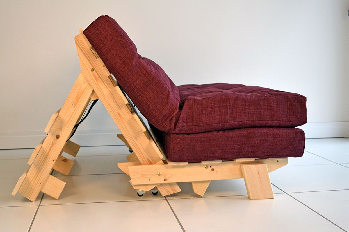 Compact Futon Sofa Bed Full Size Double With Small Footprint As