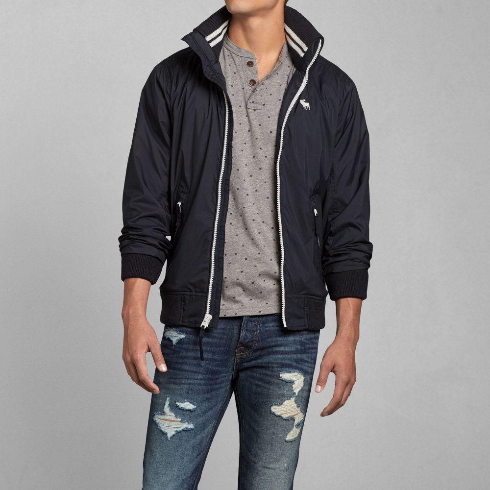 Mens Athletic Bomber Jacket Mens Outerwear Jackets Abercrombie Com Mens Outerwear Jacket Denim Outerwear Jackets [ 1000 x 1000 Pixel ]