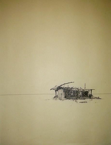 Felicity Warwick - 'untitled 5' - ink on paper monoprint - 68 x 49 cm - 2011