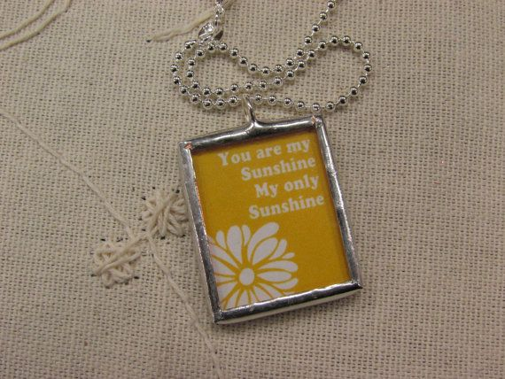 You are my Sunshine charm necklace pendant by PeppermintCharms, $28.99