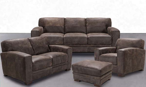 Best Ponce 100 Italian Leather 4 Piece Contemporary Living 400 x 300