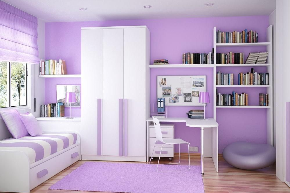 purple color for bedroom 25 Photos Of Luxury White