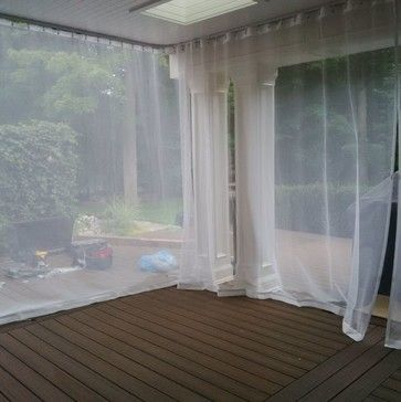 Outdoor Curtains Mosquito Drapes Porch Screens Decks Patios In