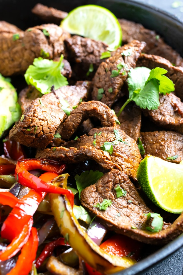 Easy Steak Fajitas #steakfajitarecipe