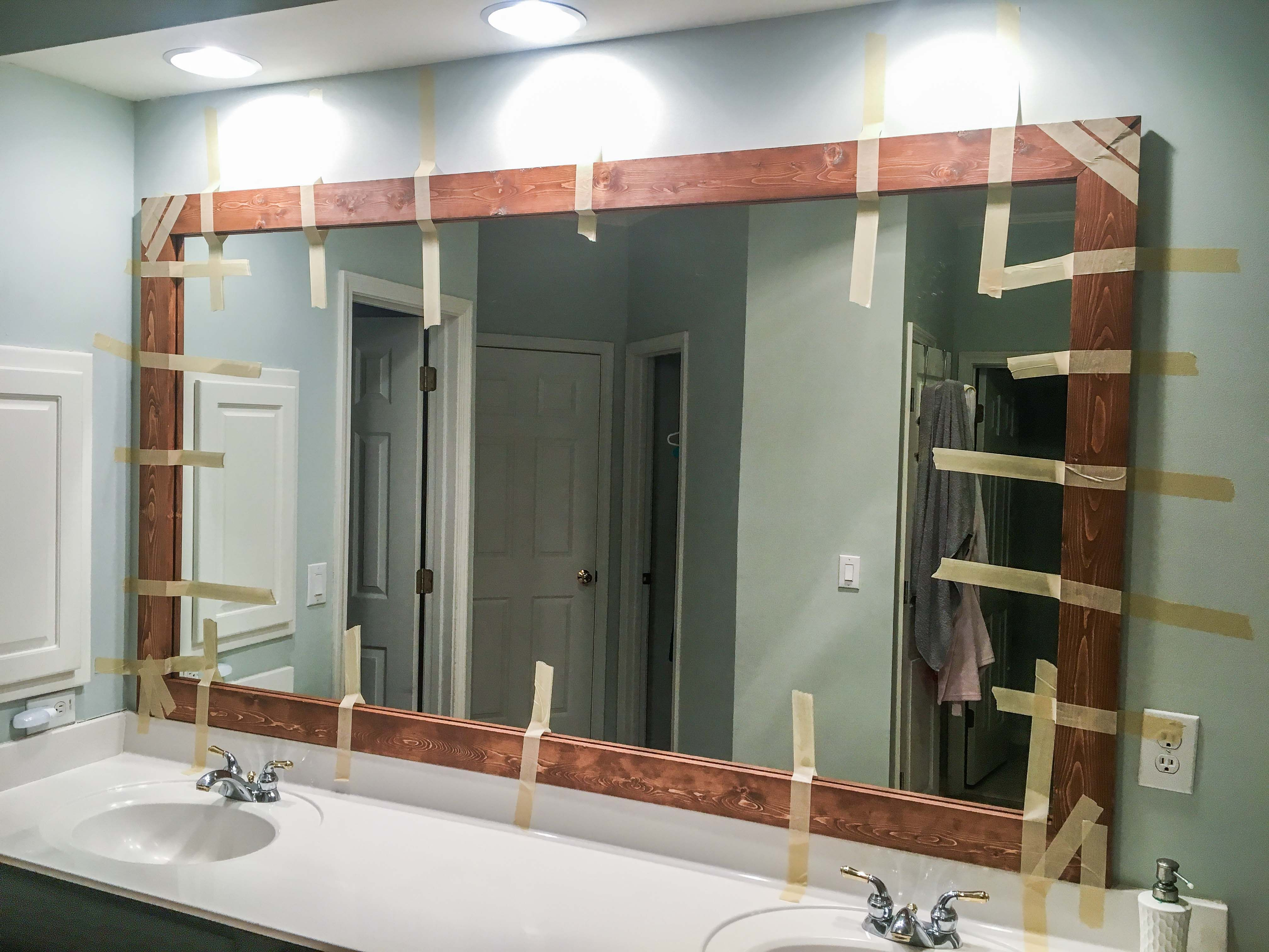 Photo of How to DIY Upgrade Your Bathroom Mirror With a Stained Wood Frame – Building Our Rez