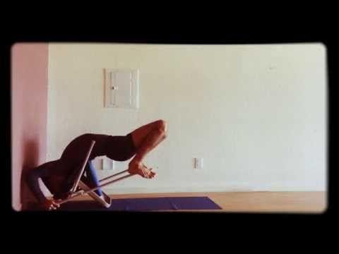 urdhva dhanurasana over upside down chair  iyengar yoga