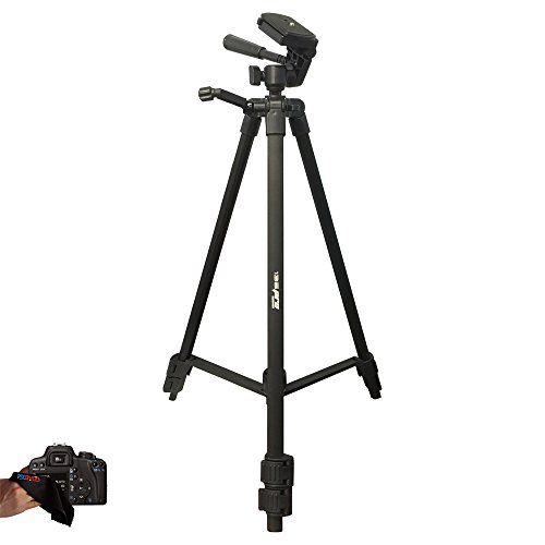 Professional 72-inch Tripod 3-Way Panhead Tilt Motion with Built ...