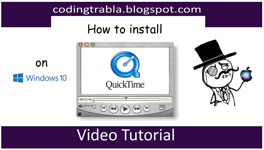 How to install #Apple #QuickTime #Media #Player 7 7 9 on
