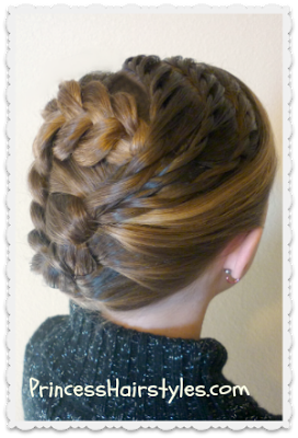 Pretty Holiday Updo Tutorial Hair Styles Holiday Hairstyles Princess Hairstyles