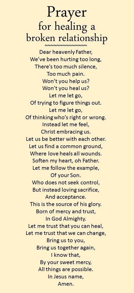 Relationship Bible Quotes Prayer For Healing A Broken Relationship  Prayers  Pinterest